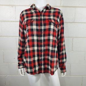 Woolrich 100% Cotton Plaid Button Down Shirt